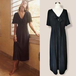SEZANE Emilie Dress Bow Silk Soie Robe 38 US 6 NWT